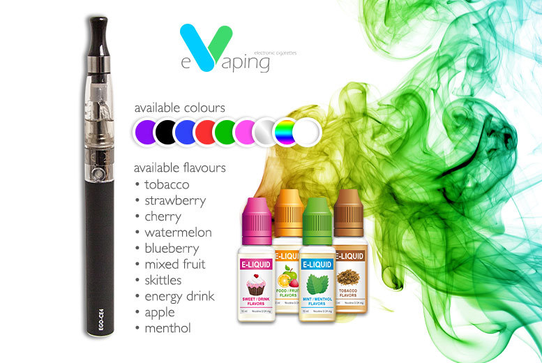 £6 instead of £22 (from E-Vaping) for an e-cig and a nicotine-free refill - save 73%