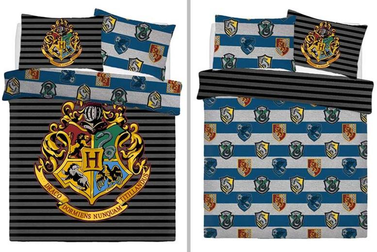Harry Potter Reversible Crest Bedding Set – 2 Sizes (£12)