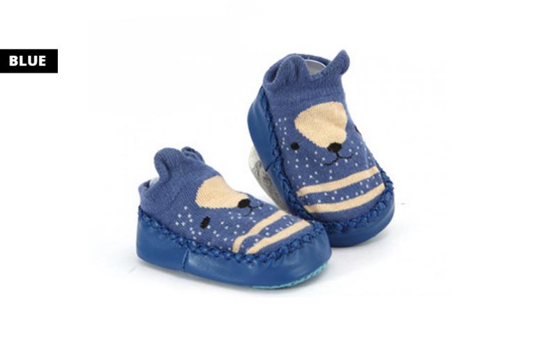 Toddler AntiSkid Slipper Shoes 4 Colours & UK Sizes 25