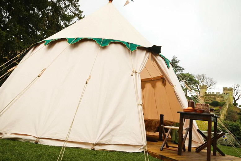 Sports & Adventure: Enchanting Warwick Castle Glamping Tent, Breakfast & Entry for 4