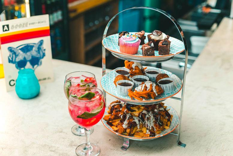 Restaurants & Bars: Fried Chicken Afternoon Tea & Gin for 2 @ Yard & Coop