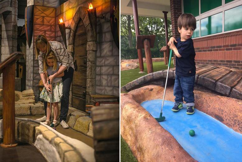 Activities: 18-Hole Adventure Golf for 4 @ Namco Funscape
