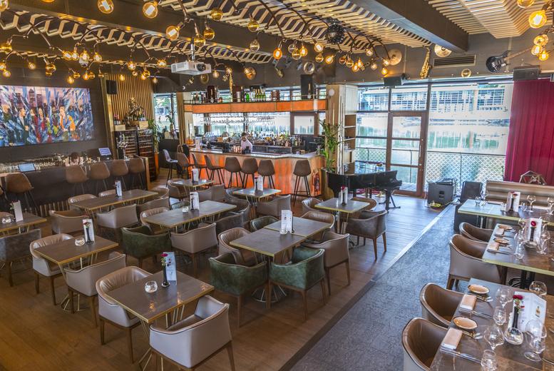 Restaurants & Bars: 2-Course Dining & Wine for 2 @ Jazzgir, Canary Wharf