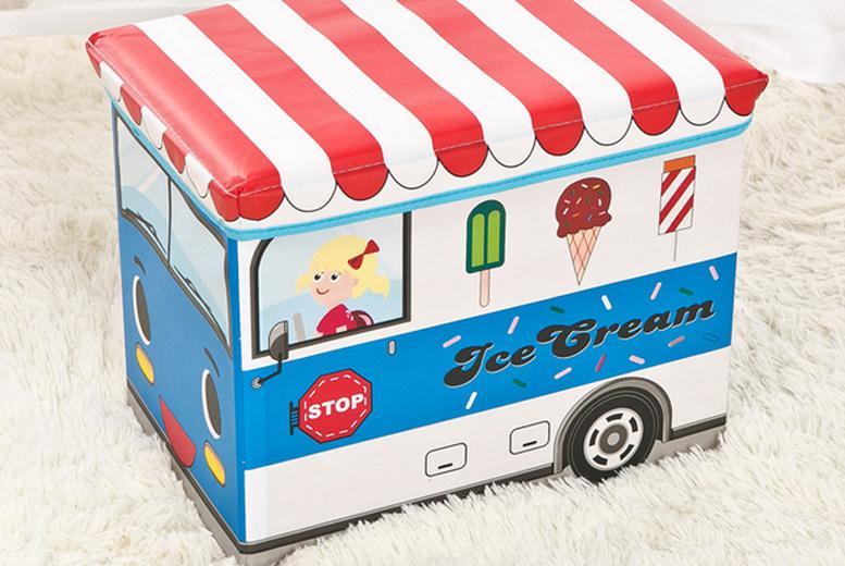 Kids' Cartoon Vehicle Storage Box  5 Options!