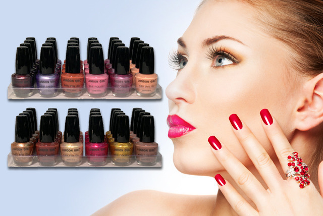 £12.99 instead of £49.99 (from Zuvo) for a London Girl nail polish pack inc. 24 polishes in various colours - save a stylish 74%