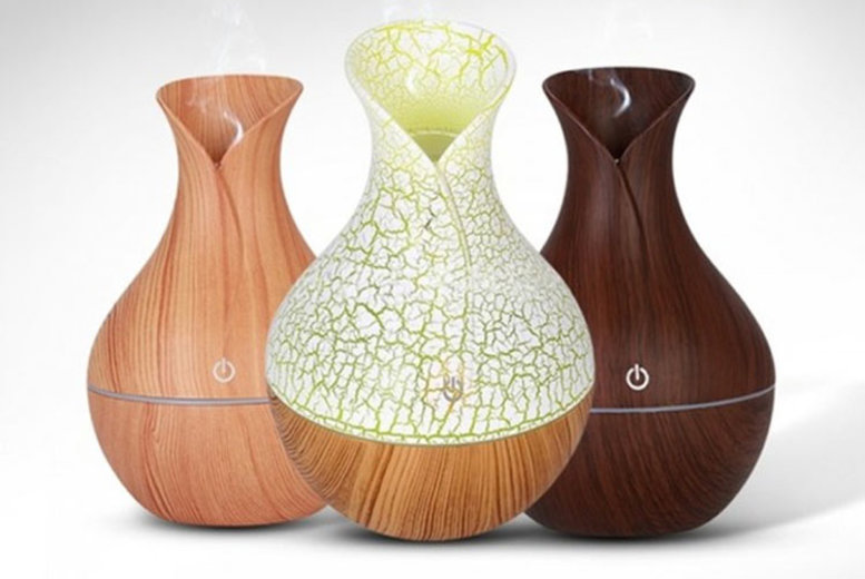 Portable Ultrasonic LED Humidifier & Diffuser  3 Designs!