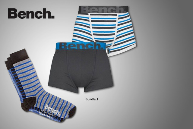 £13 instead of £24.99 (from Velocity Outlet) for a Bench Men's underwear bundle inc. 2 pairs of boxers & 3 pairs of socks - save 48%