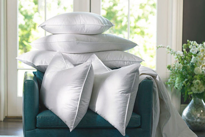 4 Luxury Goose Feather & Down Pillows (£16)