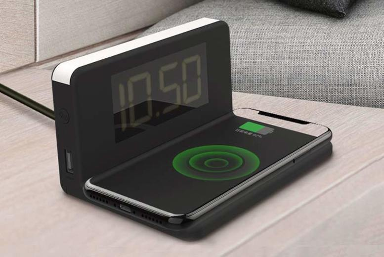 3in1 Alarm Clock, LED Night Light & Wireless Charger