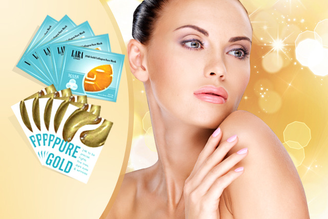 £10 (from iBEAUTYFIX) for 5x 'gold' face & eye masks, 5x snail collagen face & eye masks or 10x silk protein masks - save up to 86%