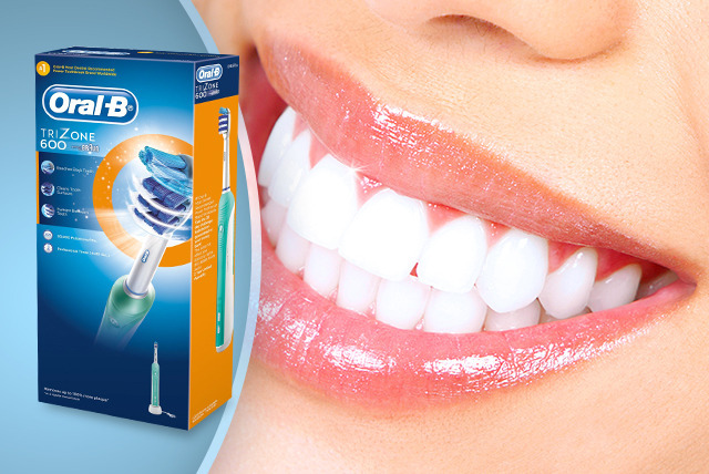 £23 instead of £49.99 (from Atlantic Electronics) for a green Oral-B TriZone 600 electric toothbrush - save a sparkly 54%