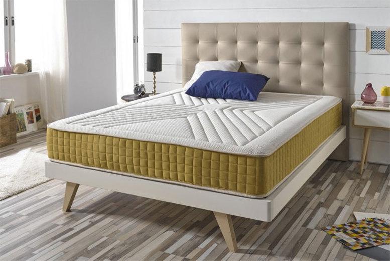 Luxury Memory Foam Gold-Threaded Bio-Natural Mattress (£89)