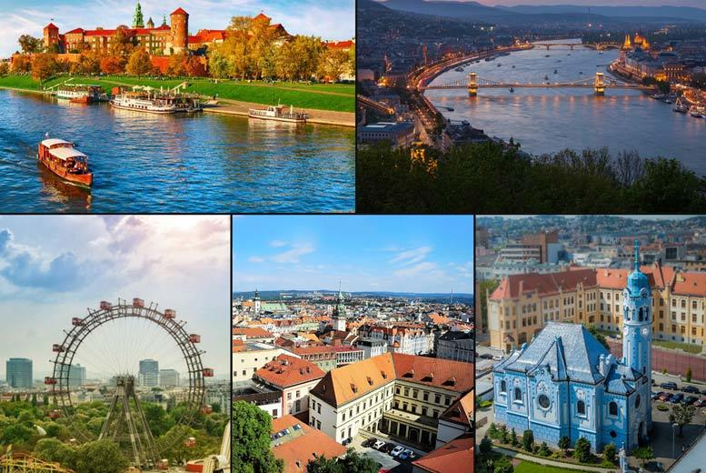 From £249pp (from Weekender Breaks) for a seven-night Central European city tour with stays in Krakow, Brno, Bratislava, Vienna and Budapest, transfers between cities and return flights - save up to 26% from Weekender Breaks