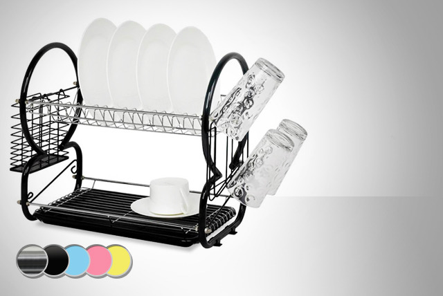£12 instead of £19.99 (from SQ Professional) for a 2-tier dish drainer with cutlery rack in a choice of colours - save 40%