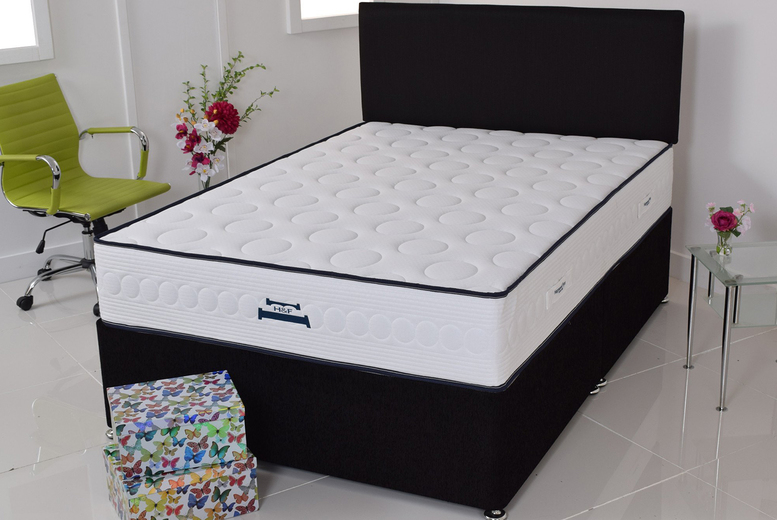 Bubble Quilted Memory Foam & Spring Mattress – 6 Sizes! (£89)