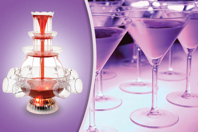 £19.99 instead of £47 (from Zoozio) for an illuminated 650ml electric cocktail fountain - add a touch of glamour to parties & save 57%