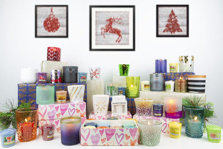 £9.99 instead of £20 for a hearts gift box containing 8 assorted votive's plus free votive holder from Yankee Bundles