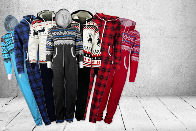 £18 instead of £39.99 (from Something About Fashion) for a hooded onesie in a choice of colours and prints - save 55%
