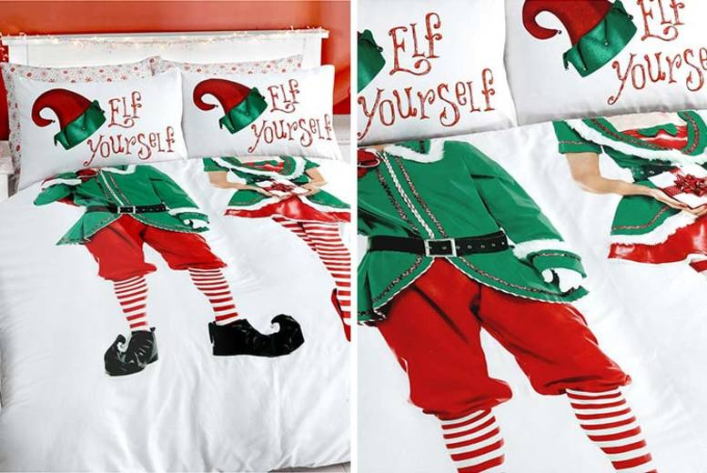 Elf Yourself Duvet Cover Set – 4 Options! (£12.99)