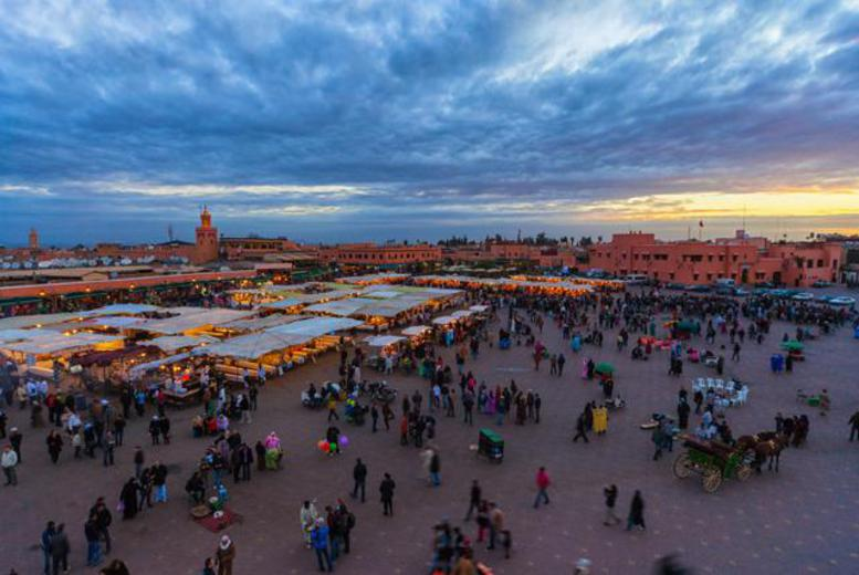From £129pp instead of up to £207.48pp (from iFly) for 2nt Marrakech break + flights, from £149pp for 3nts & £169pp for 4nts - save up to 38%