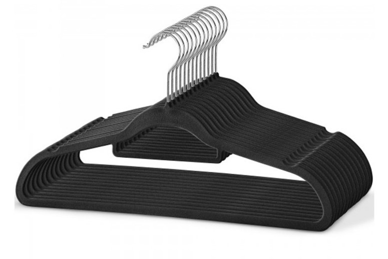 Velvet Non-Slip Hangers – 3 Quantities and 5 Colours