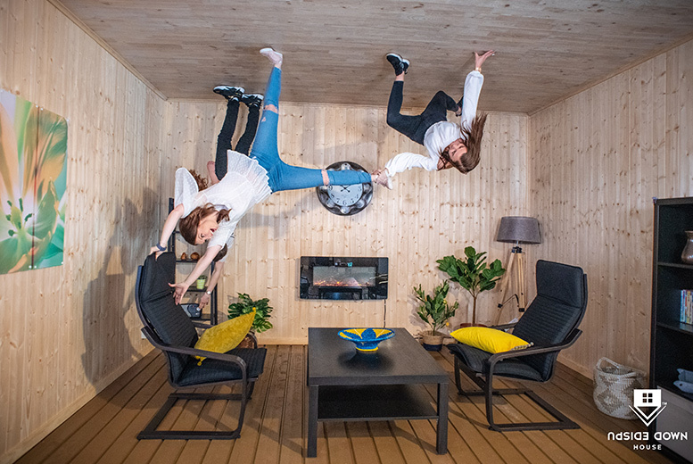 Entertainment: Upside Down House Experience – 3 Locations Inc. Trafford Centre!