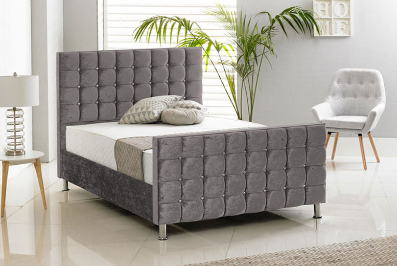 Crush Velvet Bed – 6 Options! (£199)
