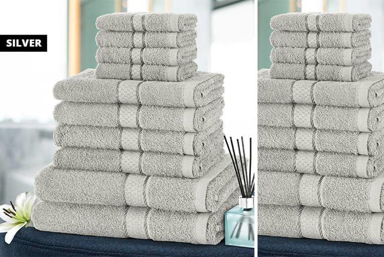 Home: 10pc Hotel Quality Cotton Towel Set - 10 Colours!