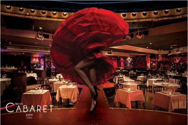 £26 instead of up to £56 for a 3crs meal inc. starter, main, dessert & bubbly + burlesque cabaret at Proud Cabaret City - save up to 54%