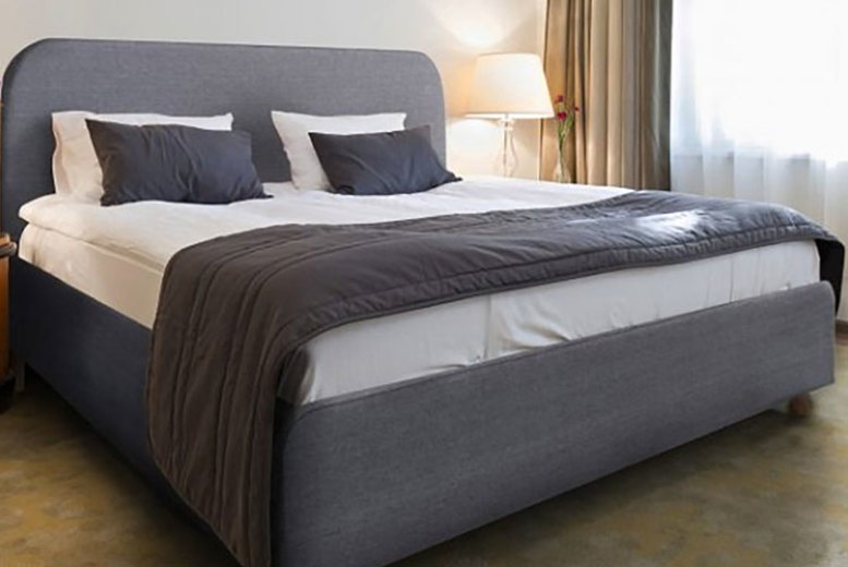 From £89 (from Dining Tables) for a double grey fabric bed or £159 for a double bed and mattress – choose your size and mattress option and save up to 69%