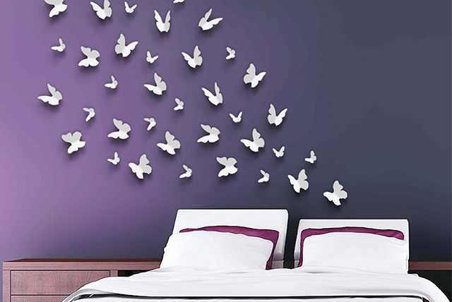 £7.99 instead of £29.99 (from Walplus) for a choice of children's wall stickers including 3D butterflies, flowers and alphabet designs - save 73%