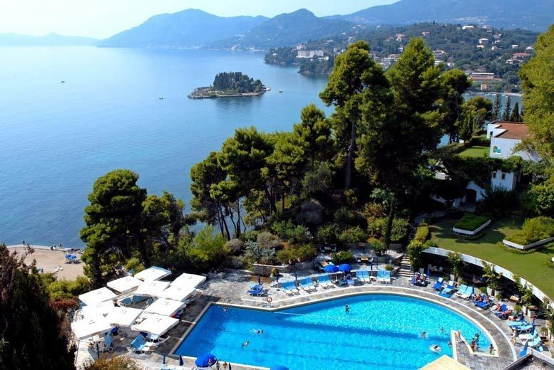 Beach Holidays: 5* Half-Board Corfu Beachfront Break & Flights - Award-Winning Hotel