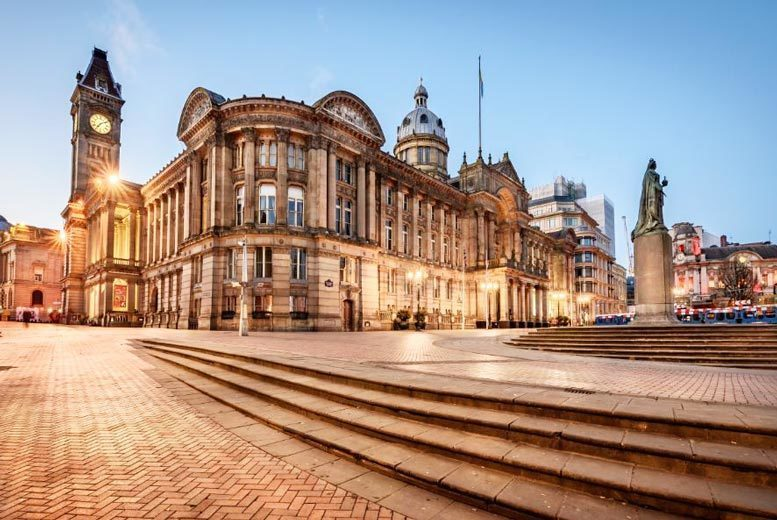 UK City Breaks: 4* Birmingham Festive City Break, 3-Course Dinner & Prosecco for 2