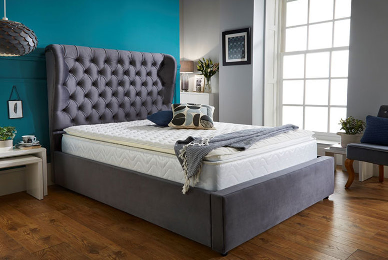 Grey Wingback Bed Frame – 5 Sizes! (£279)
