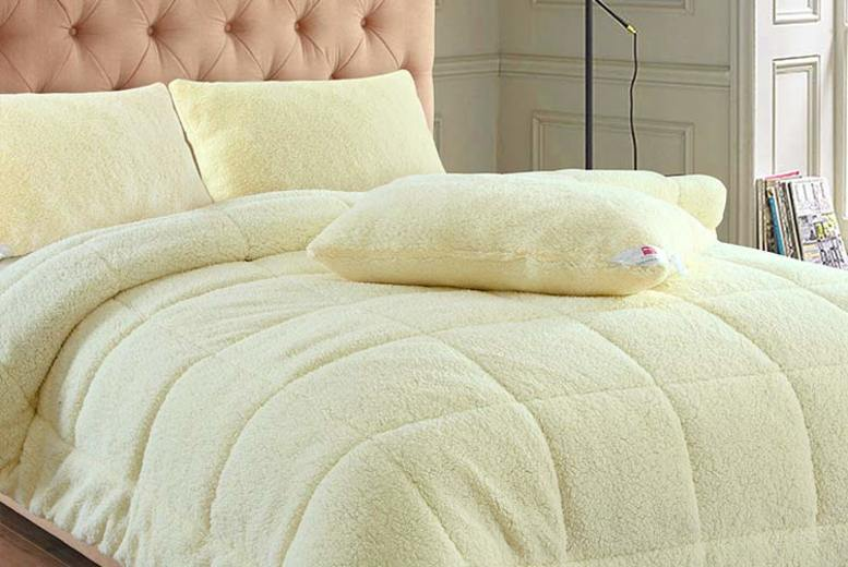 Warm Winter 13.5-Tog Teddy Fleece Duvet or Pillow (£8.99)