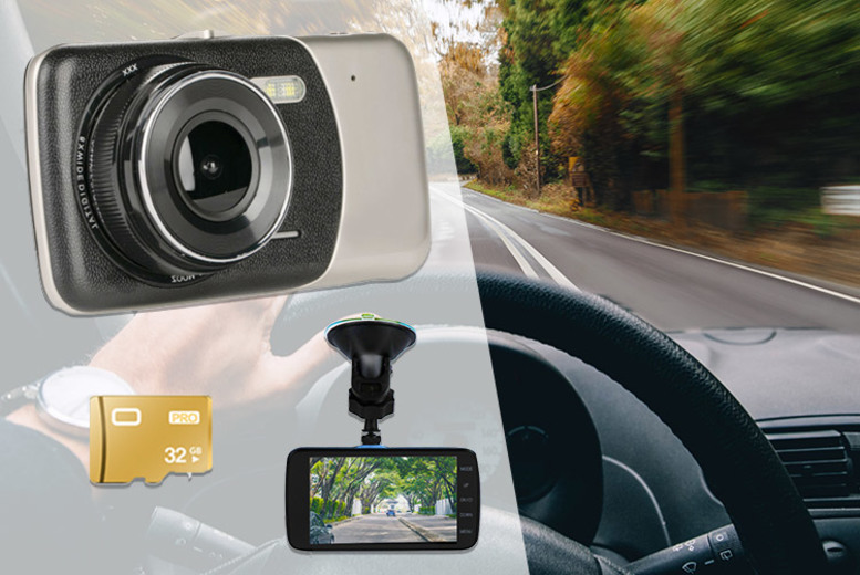 Next Gen HD Front and Rear Car Dash Cam - 32GB Option!