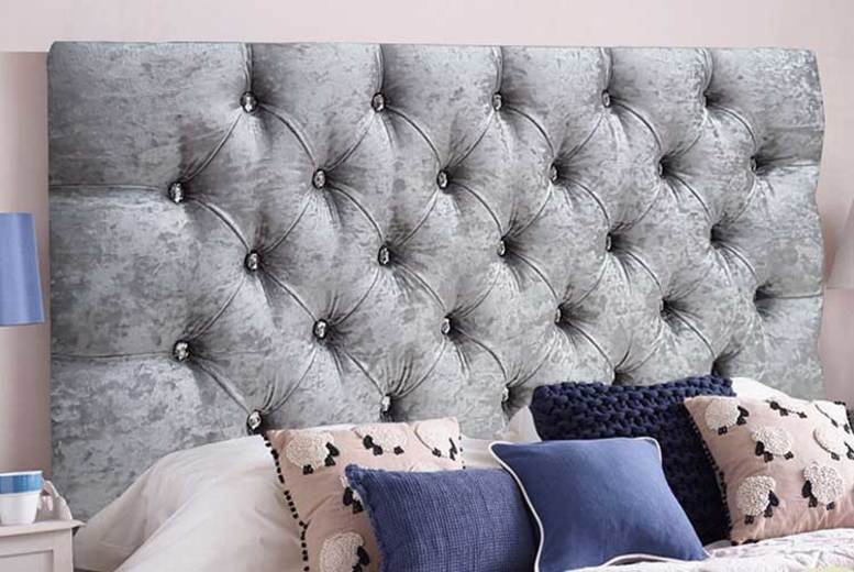 From £24 instead of £64.99 (from Serenity Designs) for a crushed velvet diamante headboard – choose from 6 sizes and save up to 56%