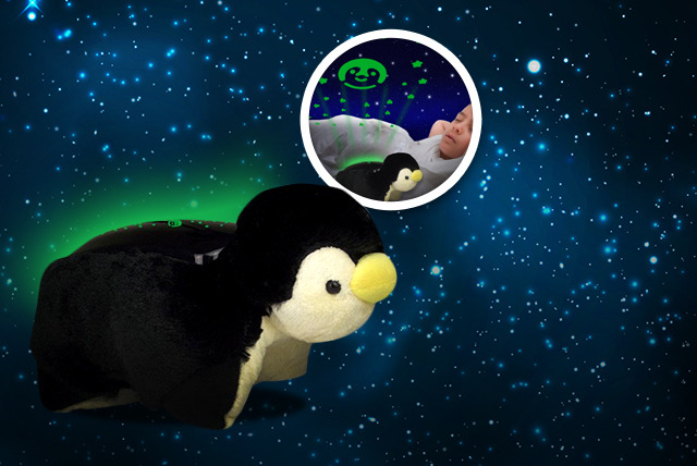 £11.99 instead of £29.99 (from TIME 2) for a penguin night light star projector - add some magic to bedtime and save 60%
