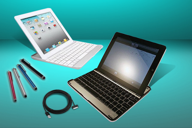 £19.99 (from TIME 2) for an aluminium iPad case with Bluetooth keyboard, screen protector, charging cable and touchscreen stylus pen - save 75%