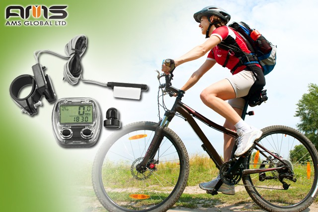 £6.99 instead of £15 (from AMS Global) for a 13 function bicycle computer inc. time, speed, distance & temperature - save 53%