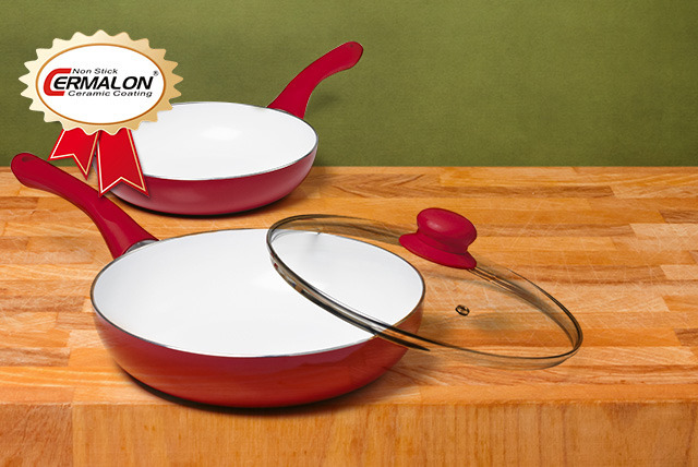 £19.99 instead of £49.99 for a 24cm x 20cm ceramic pan set in a choice of 4 colours from Wowcher Direct - save 60%