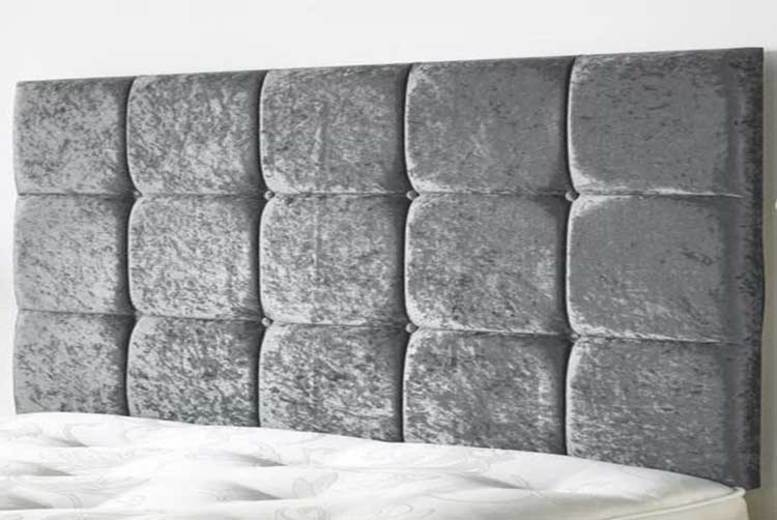 From £25 (from Serenity Designs) for a crushed velvet cube headboard – choose from six sizes and save up to 55%