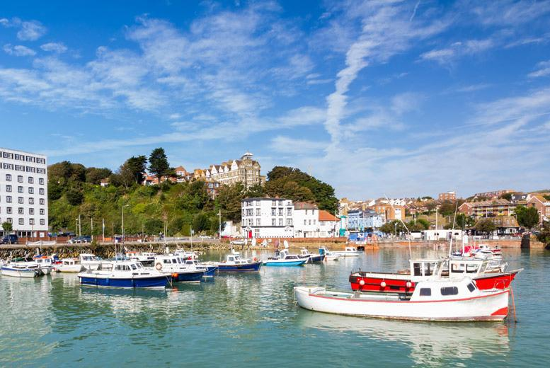 £99 (at The Burlington Hotel, Folkestone) for a 2-night break for 2 inc. breakfast and a 2-c