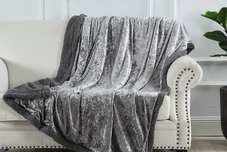 £12.99 instead of £69.99 (from Fusion Online) for a crushed velvet teddy fleece throw – save 81%