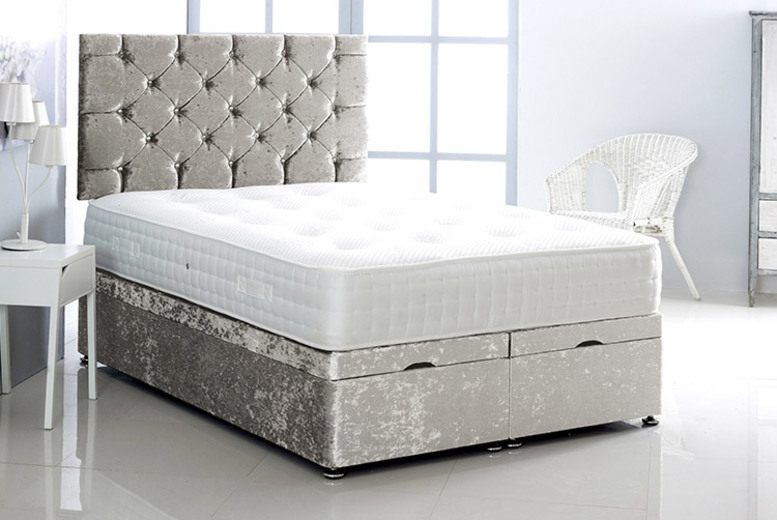 From £349 instead of £684.99 (from Serene) for a crushed velvet ottoman bed – choose from five sizes and seven colours and save up to 49%