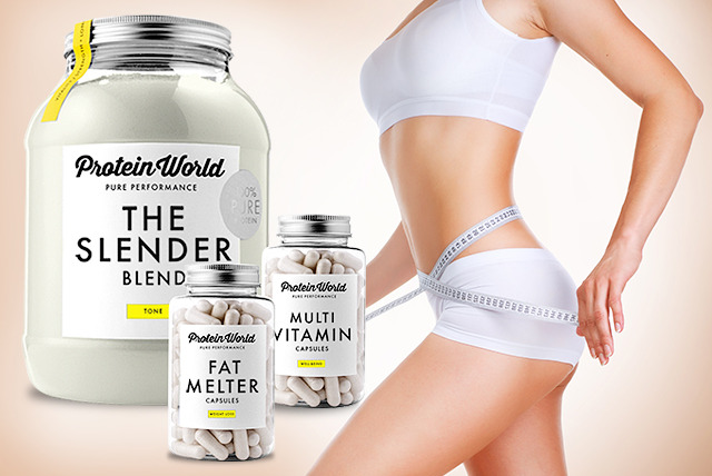 £29.99 instead of up to £62 (from Protein World Ltd) for a weight management bundle inc. Slender Blend, Fat Melter capsules, multivitamins - save up to 52%
