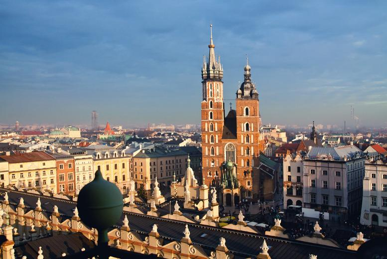 From £119pp (from ClearSky) for a 2nt Krakow break inc. flights and breakfast, from £159pp for 3nts - save up to 44%
