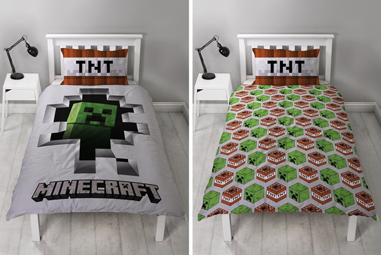 Minecraft Licensed Bed Sheets (£12.99)