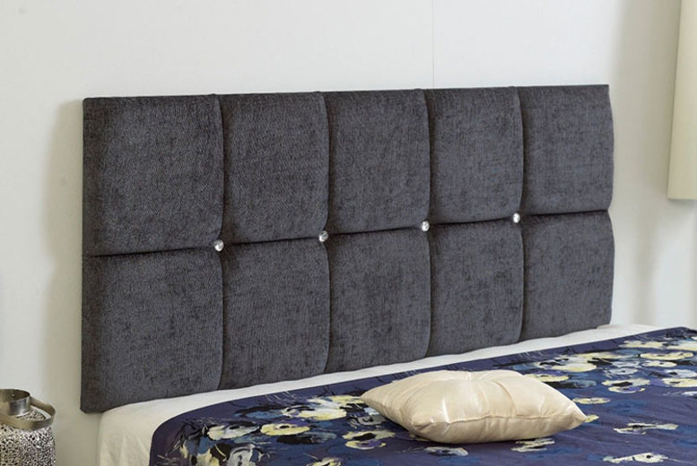 From £19 instead of £31 (from Serenity Designs) for a small sing chenille fabric headboard - choose your size and colo