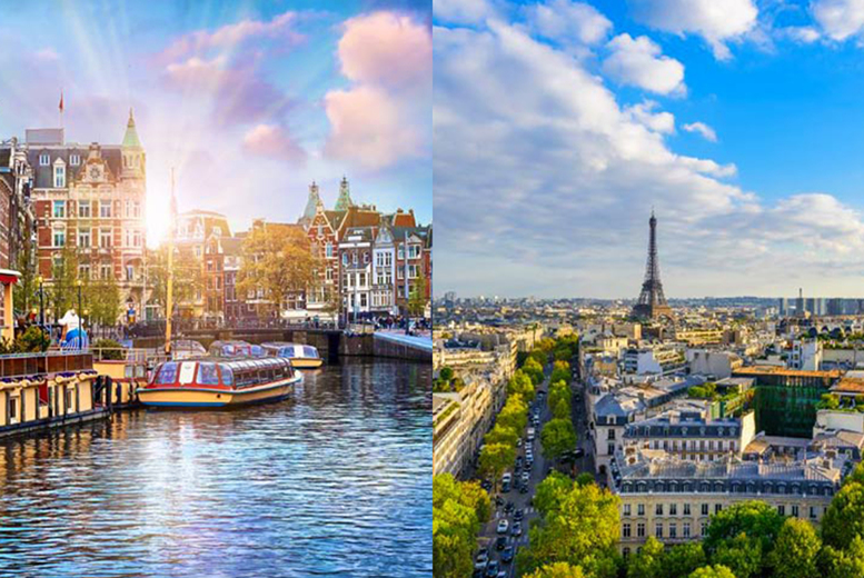 From £219pp (from Weekender Breaks) for a four-night Paris and Amsterdam city break with a train transfer and return flights, or from £289pp for six nights - save up to 33% from Weekender Breaks